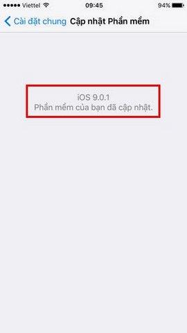 cap nhat ios 9.0.1 cho iphone