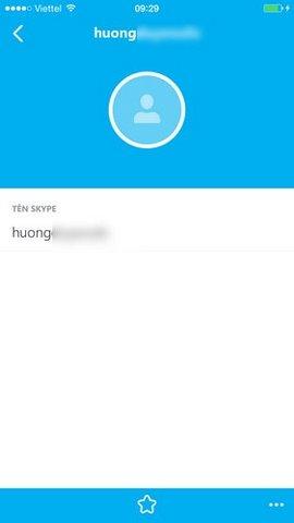 xem thong tin bạn be skype tren iphone