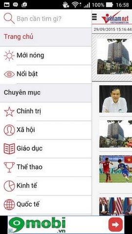doc bao vietnamnet tren dien thoai