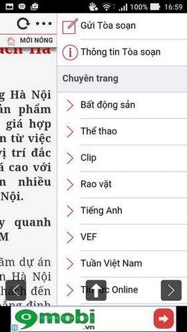 doc bao vietnamnet tren mobile
