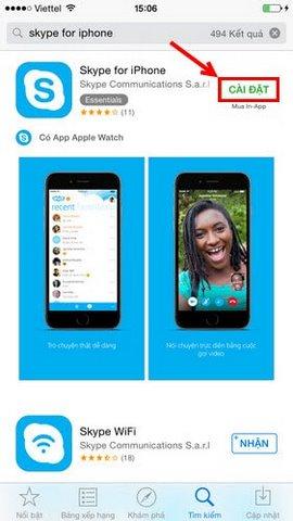 cai dat skype tren iphone