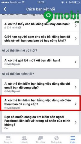 chan tim kiem facebook