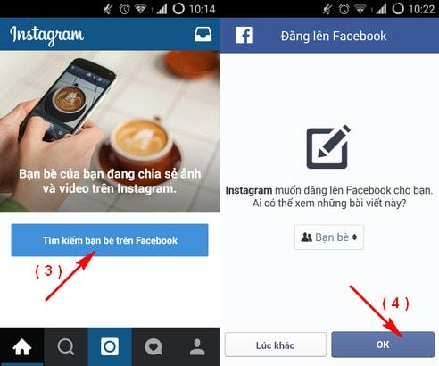 dang nhap Instagram tren facebook
