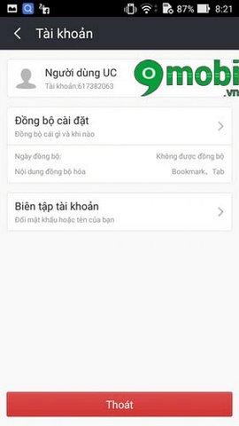 dang nhap uc browser tren android