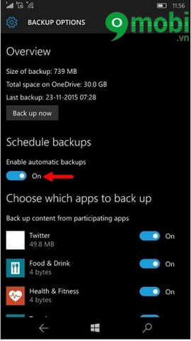 fix loi backup windows phone