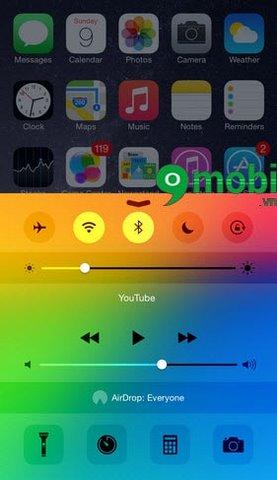Mod màu control center iPhone, mod màu control center