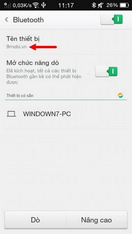 doi ten bluetooth oppo