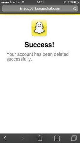 xoa tai khoan snapchat tren iphone