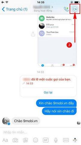 goi video tren facebook messenger