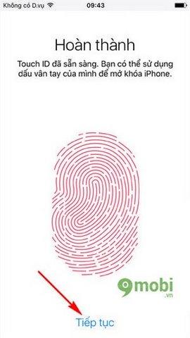 cach khoa van tay iPhone 7