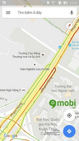 phat hien tac duong voi google maps