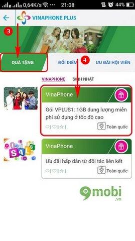 cach nhan 1gb data 3g vinaphone