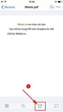 cach tao chu ky trong pdf tren dropbox