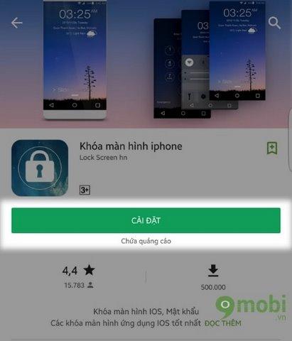 huong dan cai man hinh khoa iPhone cho Android