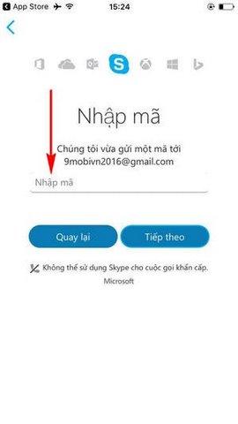 dang ky skype tren iphone