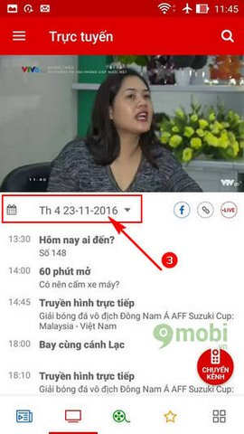 xem aff cup tren Android