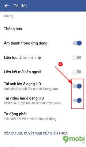 tai video hd len facebook tren dien thoai android 4