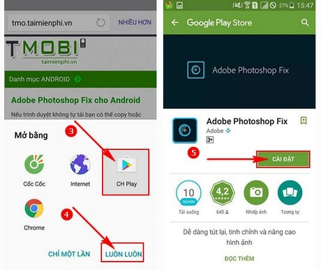 Adobe Photoshop Fix cho Android