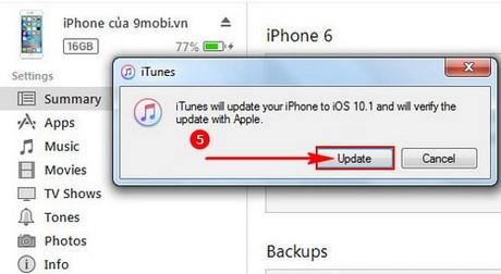 ha cap ios 10.1.1 cho iPhone