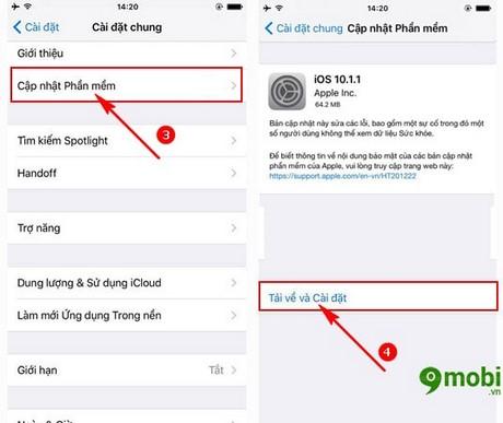 update ios 10.1.1 cho iPhone
