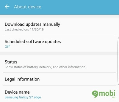 update android cho samsung S7