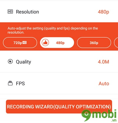dung Mobizen Screen Recorder tren android