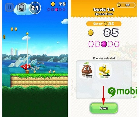 choi super mario run tren iphone