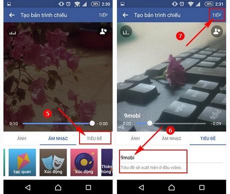 huong dan tạo slideshow facebook