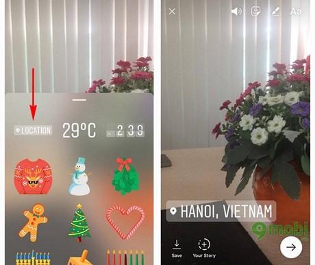 huong dan lam thiep giang sinh tren Instagram