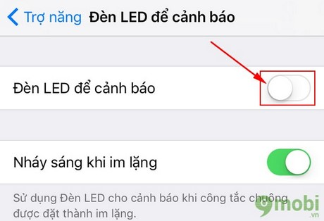 bat den flash thong bao iphone 7