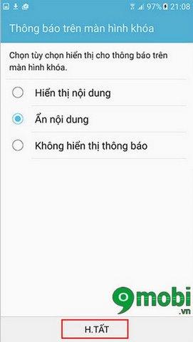 Cài đặt khóa theo hướng trên Samsung Galaxy S7 Edge