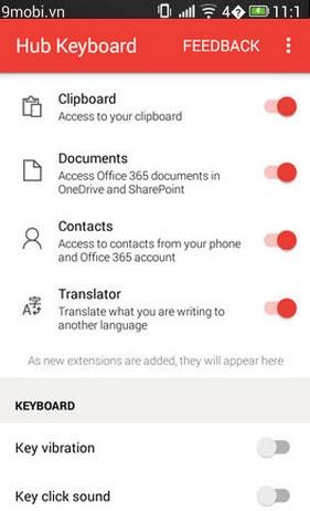 hub keyboard cho android