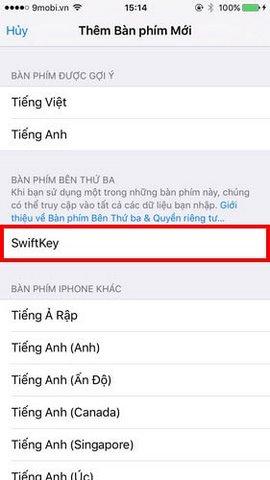 cai dat swiftkey cho iphone