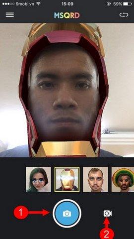 Làm ảnh Iron Man trên điện thoại iOS