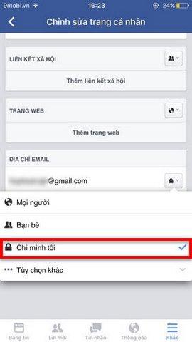 an emai facebook