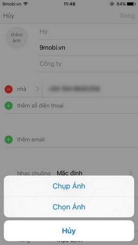 them thong tin danh ba iphone