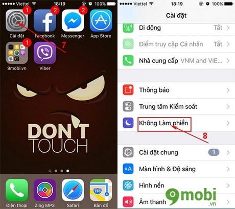 kich hoat che do im lang cho dia chi lien he tren iphone