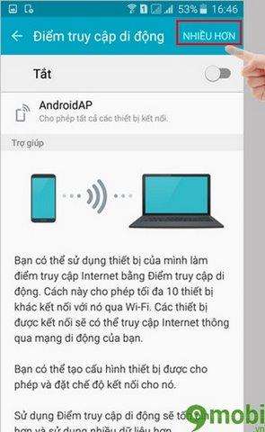phat wifi tren dien thoai samsung galaxy j7 2016