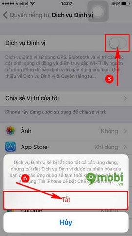 cach bat gps iphone 6