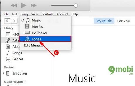 cai nhac chuong iPhone qua iTunes