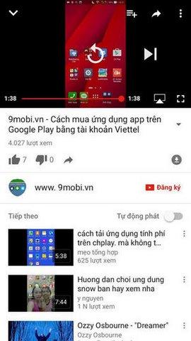 tat che do youtube tu chuyen bai