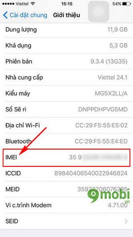 cach xem imei iphpne 6