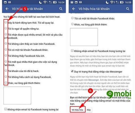 khoa tai khoan facebook