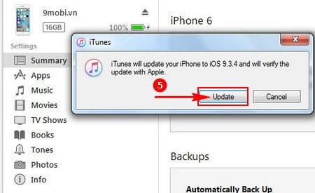 downgrade iOS 9.3.5 bang iTunes