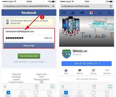 download video facebook ve iPhone