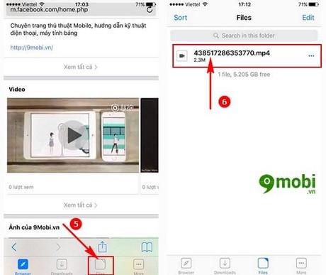 download video tren Facebook cho iPad