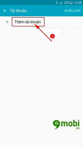 add account gmail tren Galaxy Note 7