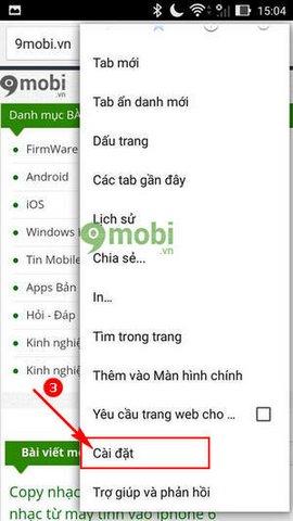 trinh duyet tiet kiem 3g cho Android