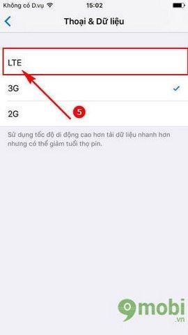 bat 4g tren iPhone 7,