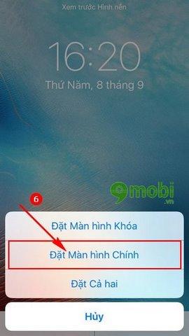 huong dan thay hinh nen iPhone 7